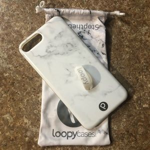 White Marble Loopy case 6/7/8 PLUS